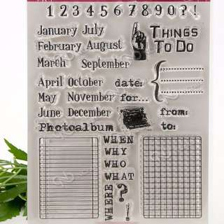 Month Clear Planner Stamp