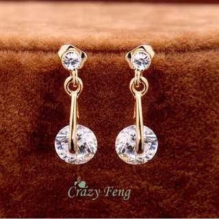 Gold Plated Women's Cubic Zircon Jewelry Set
