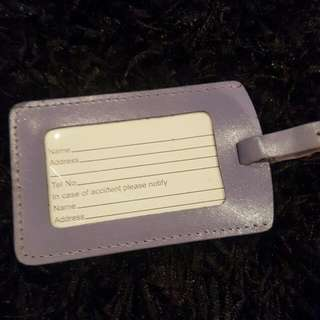 Suitcase Leather Tag