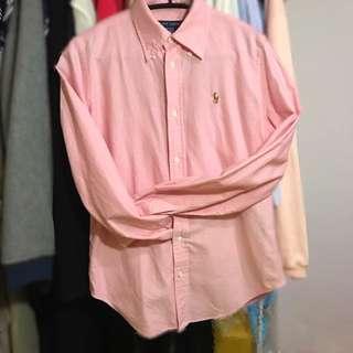 🚚 ralph lauren 粉紅色襯衫 4號