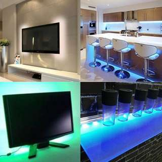 USB Multi 20 Colors LED Strip 5050 RGB with inbuilt controller ( PC TV Room backlight deco light lightings )