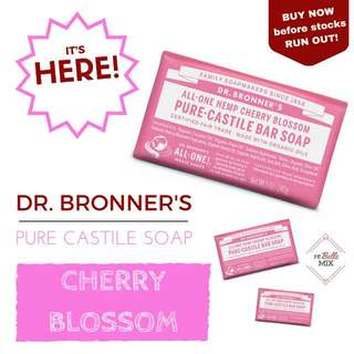 Dr. Bronners Bar Soap - Cherry Blossom