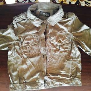 Cotton On Army Green Short Parka