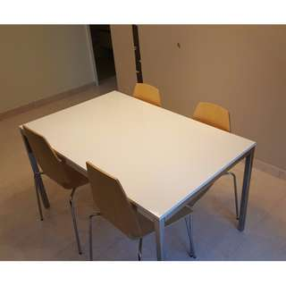 IKEA TORSBY Table + 4 VILMAR chairs