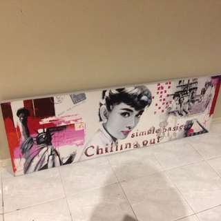 Audrey Hepburn Large Oil Canvas Painting