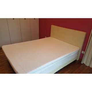 Queen Divan set with spring mattress