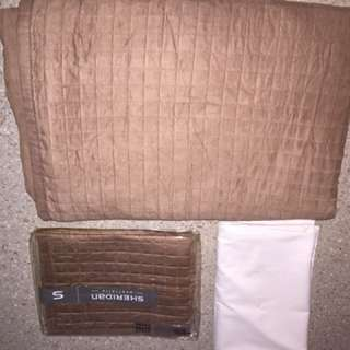Sheridan Ultra Suede Quilted Quilt Cover And Extras