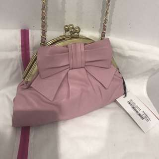 Alannah Hill Pink Purse With Bow