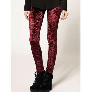 Urban Outfitters BDG Red Velvet Leggings