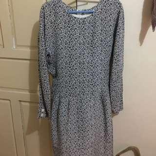 printed formal dress