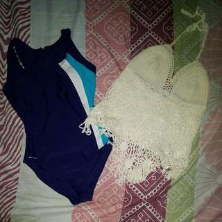 Bundle: Swimsuit (Never Used) + Cover-up