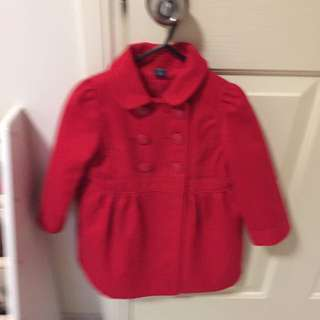 GAP Kids Red Coat Size 2