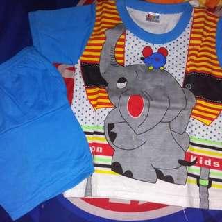 Setelan Gajah Biru 1-2 th