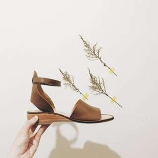 Hudson London Shoes 購於英國網站 全真皮 皮鞋 軟皮 木頭跟鞋 超好穿 夏日涼鞋 Summer Look #我有涼鞋要賣
