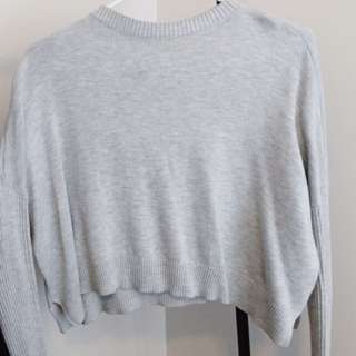 Light Grey Cropped Sweater