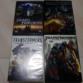 Transformers movie DVDs