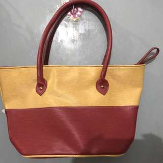 Medium Size Yellow & Red Tote Bag