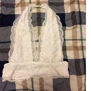 Lace Halter Bralette / Crop Top