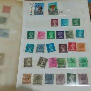 英女皇郵票 1頁半