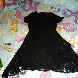 Black Lace Dress Syantikk - Big Size