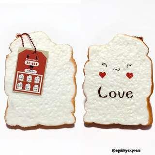 Jumbo Love Toast Squishy