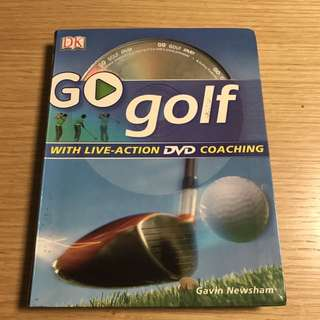 DK Go Golf Book With DVD Coaching
