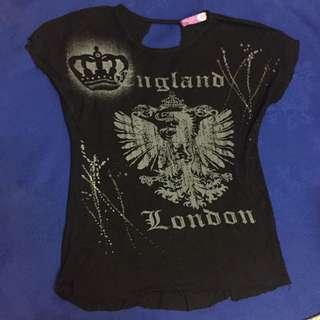 Black England Shirt