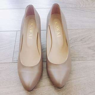 Comfy Nude Heels Made In Japan