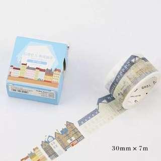 European Buildings Washi Tape