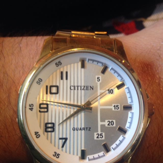 24K GOLD PLATED CITIZEN WATCH