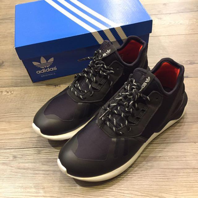 8成新✨ Adidas Tubular Runner K 女鞋 US5 23.5cm 黑 白 B25538