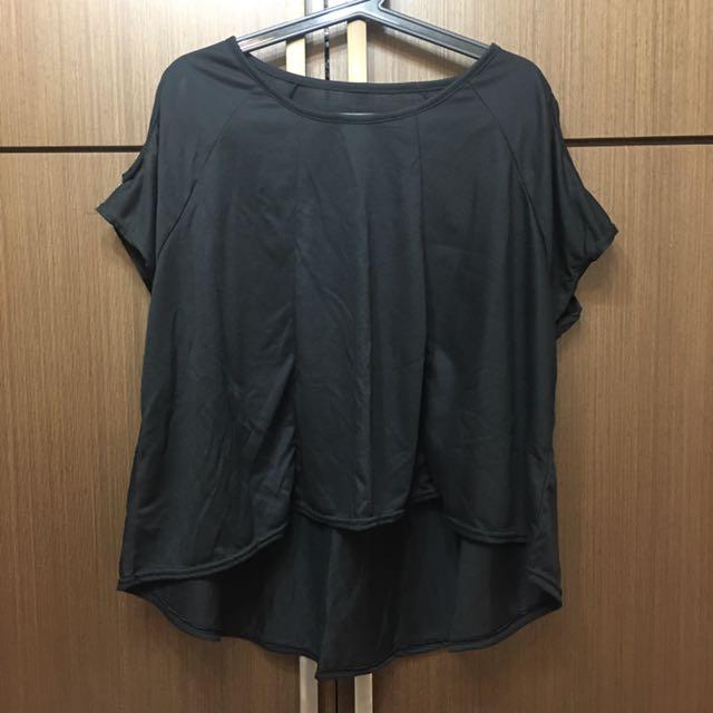 全新👉🏻 黑色露肩短袖上衣 台灣製