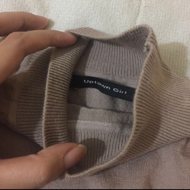 ( REPRICED ) sweater knit turtle neck