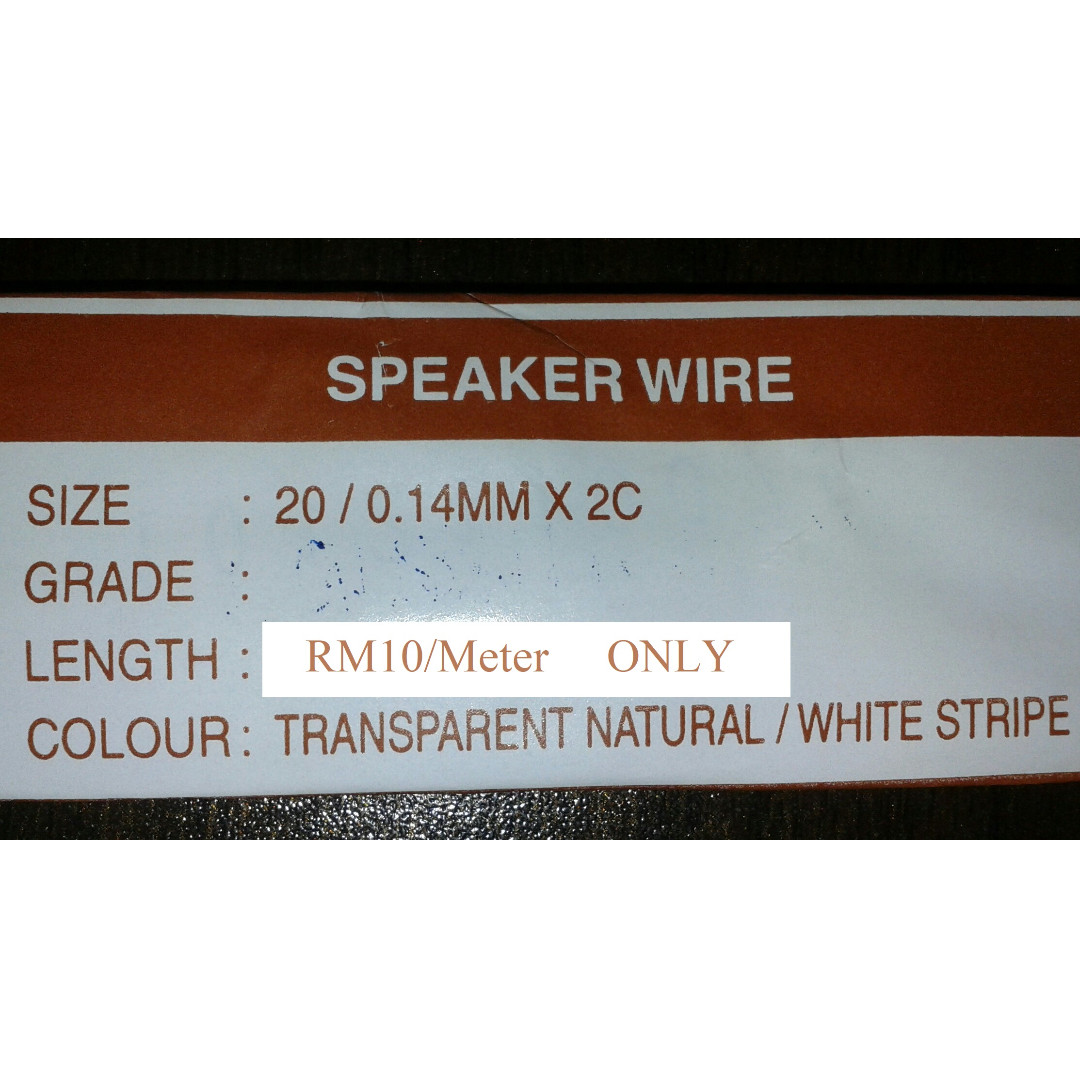 Speaker Wire / Cable, Electronics, Audio on Carousell