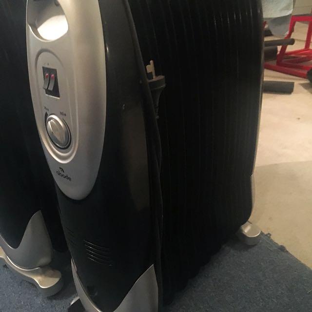 Abode Column Heater. Classy Black Finish. Toasty!