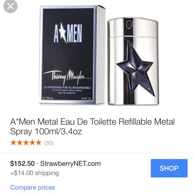A*MEN Thierry Mugler Metal Rechargeable Perfume