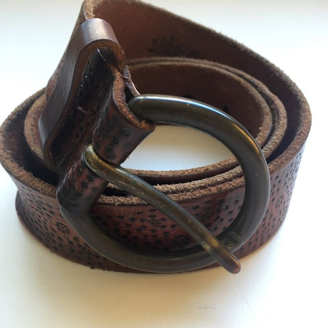 American Eagle Leather Belt (S)
