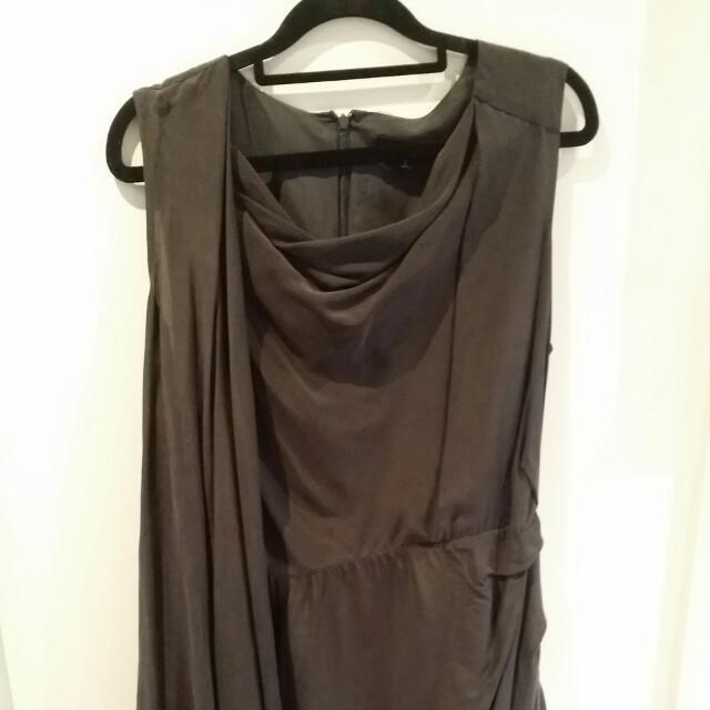 Asymmetrical grey Dress