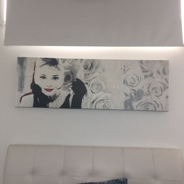 Audrey Hepburn Wall Canvas