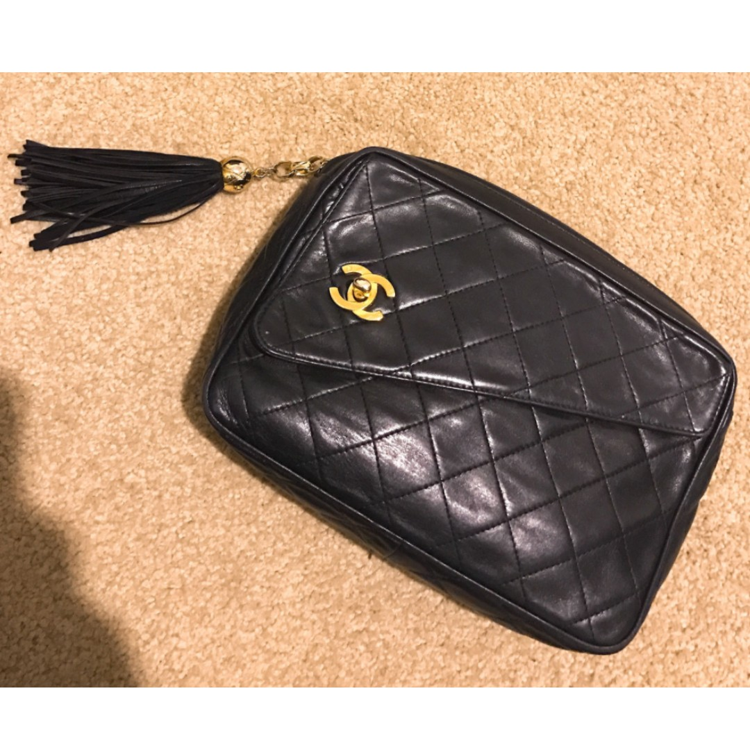 Authentic Chanel vintage clutch bag