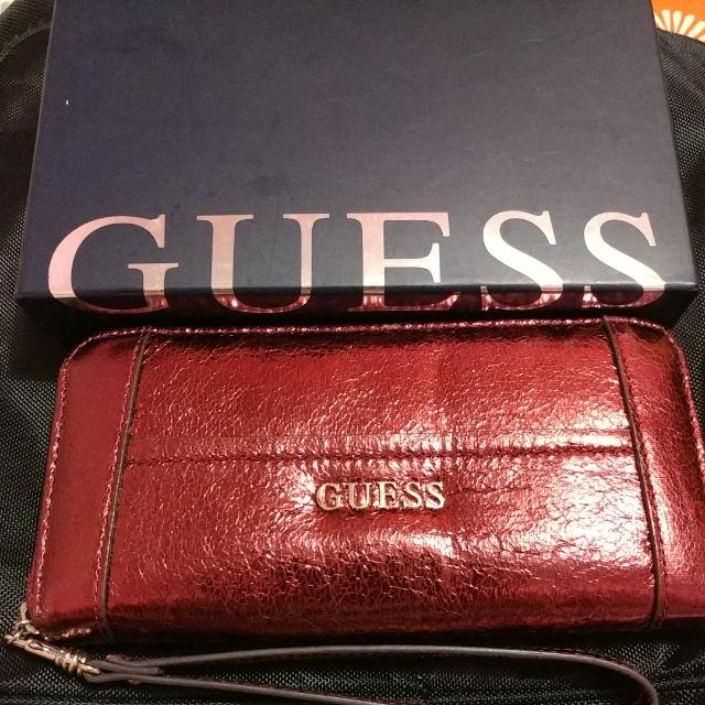 Authentic Guess Long Zip Around Wallet
