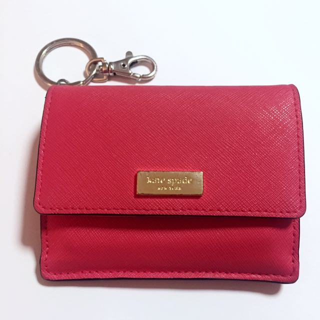 Authentic KATE SPADE NEW YORK Newbury Lane Petty Saffiano Leather Wallet - Geranium