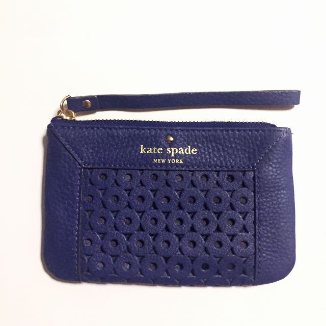 Authentic KATE SPADE NEW YORK Wristlet/Pouch- Blue