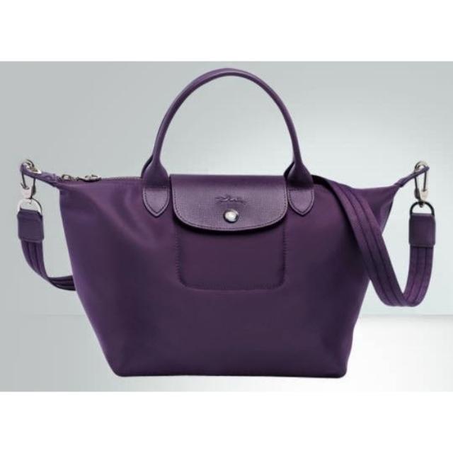 dce14c4a75cf Authentic Longchamp Le Pliage Neo Bilberry Purple Medium