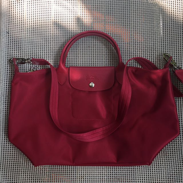 Authentic Longchamp Neo Le Pliage with long strap