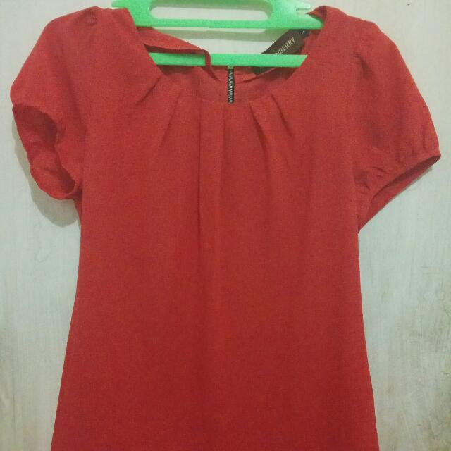 Baju Simple Orange