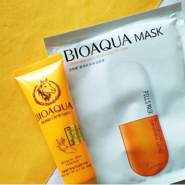 bioaqua handcream and mask