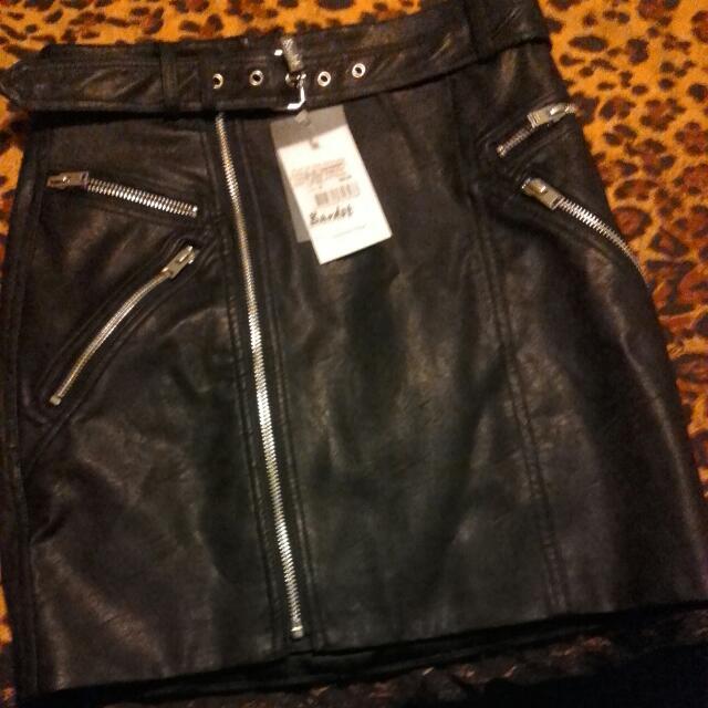 Black Bardot Lether Skirt