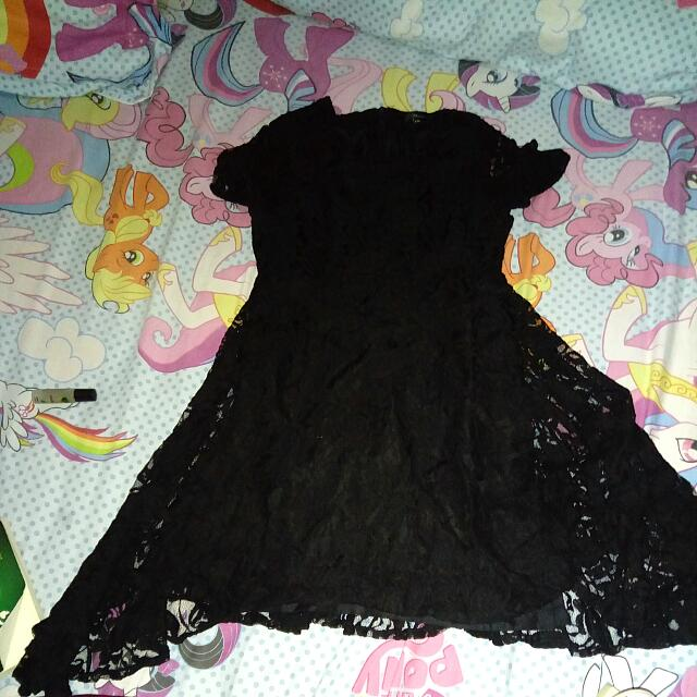 Black Lace Dress Syantikk - Big Size