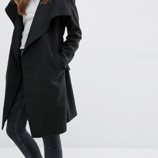 Black Wrap Coat (New)